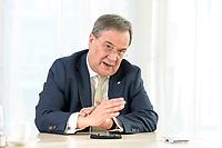 27 NOV 2020, BERLIN/GERMANY:<br /> Armin Laschet, CDU, Ministerpraesident Nordrhein-Westfalen, waehrend einem Interview, Landesvertretung Nordrhein-Westfalen<br /> IMAGE: 20201127-01-001