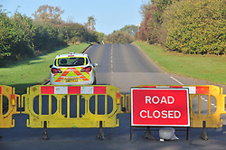 © Licensed to London News Pictures 25/10/2018<br /> Fawkham,UK.<br /> Scratchers Lane remains closed and will stay closed today while Kent police investigate.<br /> The search continues today for missing mother of five from New Ash Green Sarah Wellgreen.<br /> Photo credit: Grant Falvey/LNP