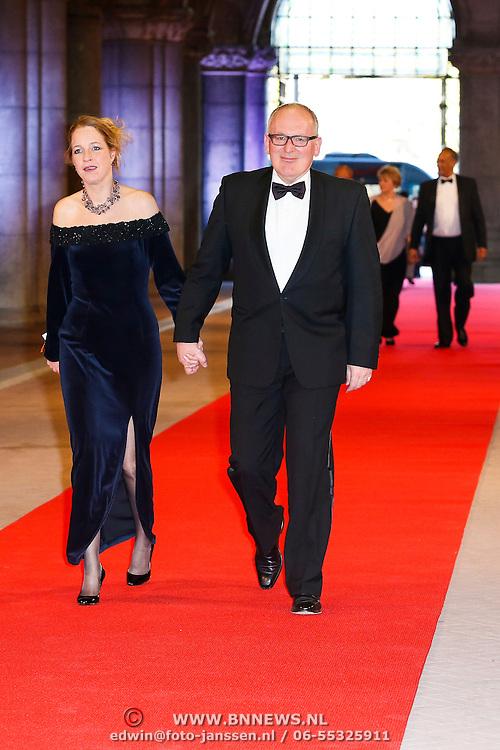 NLD/Amsterdam/20130429- Afscheidsdiner Konining Beatrix Rijksmuseum, Frans Timmermans en partner