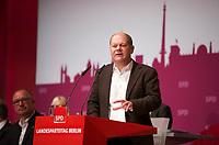 DEU, Deutschland, Germany, Berlin, 27.10.2012:<br />Landesparteitag der Berliner SPD im Berliner Congress Center (BCC) am Alexanderplatz. Hier der 1. Bürgermeister der Stadt Hamburg, Olaf Scholz (SPD), während seiner Rede.