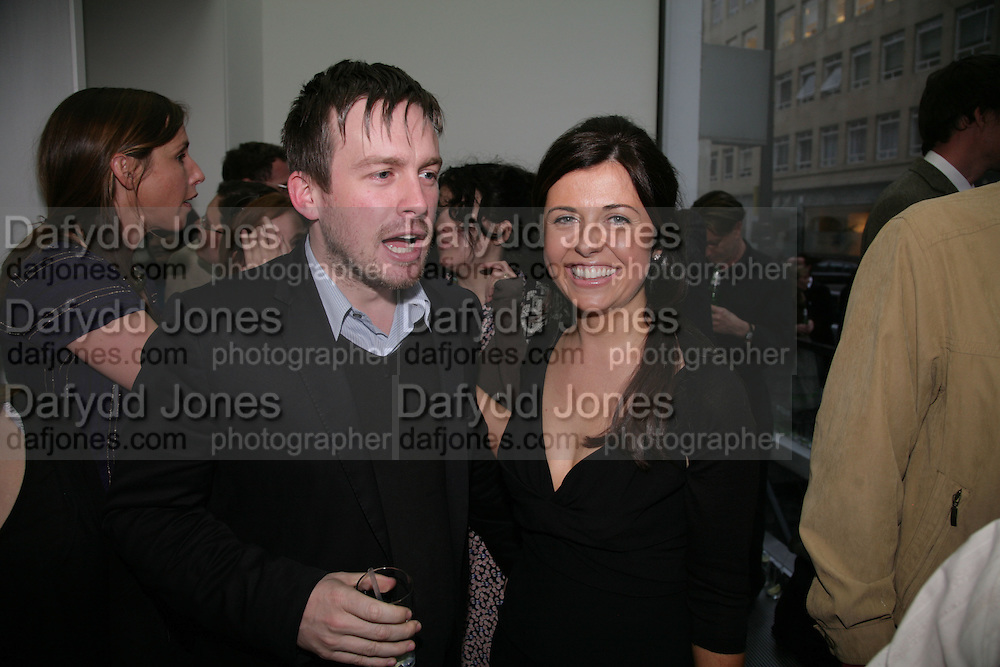 STUART SHAVE AND ALISON JACQUES, private view  of new exhibition by Tim Stoner , Alison Jacques Gallery in new premises in Berners St., London, W1 ,Afterwards across the rd. at the Sanderson Hotel. 3 May 2007. DO NOT ARCHIVE-© Copyright Photograph by Dafydd Jones. 248 Clapham Rd. London SW9 0PZ. Tel 0207 820 0771. www.dafjones.com.