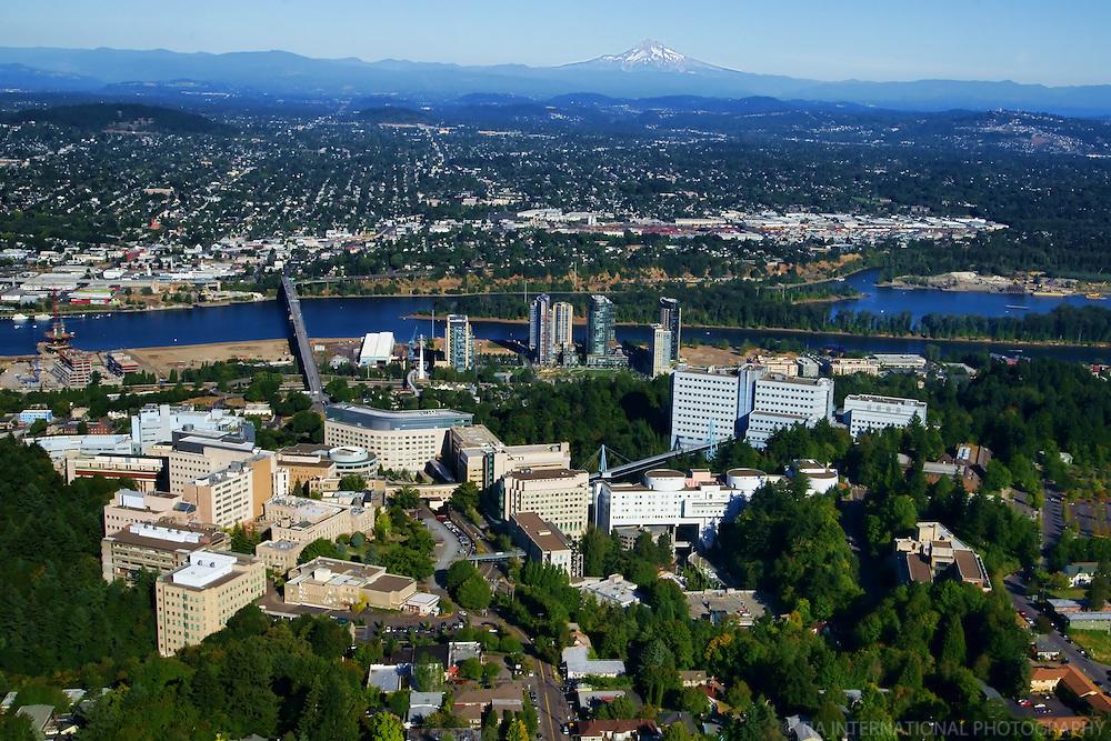 Oregon Health & Science University (OHSU) with Ross Island & Mount Hood (2)