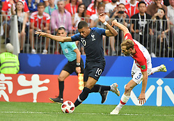 France's Kylian Mbappe during 2018 FIFA World cup final football match France v Croatia at Luzhniki stadium in Moscow, Russia on July 15, 2018. Photo by Christian Liewig/ABACAPRESS.COM