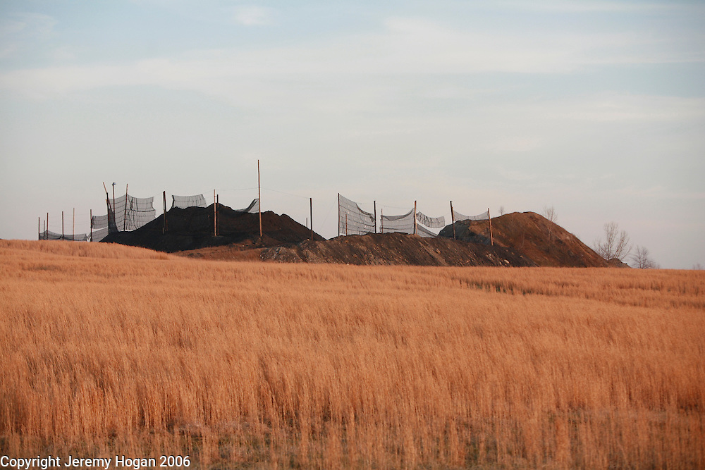 An open pit coal mine is seen in Southern Indiana. ..