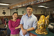 Lee Tran of Bahn Mi Hero and and his mother, Annie Tran photographed Thursday, March 12, 2012 at Annie's Cafe on Woodlawn Avenue in Louisville, Ky. (Photo by Brian Bohannon/www.brianbohannon.com)
