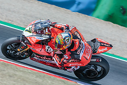 September 28, 2018 - 07, Chaz Davies, GBR, Ducati Panigale R, Aruba.it Racing - Ducati, SBK 2018, MOTO - SBK Magny-Cours Grand Prix 2018, Free Practice 2, 2018, Circuit de Nevers Magny-Cours, Acerbis French Round, France ,September 28 2018, action during the SBK Free Practice 2 of the Acerbis French Round on September 28 2018 at Circuit de Nevers Magny-Cours, France (Credit Image: © AFP7 via ZUMA Wire)