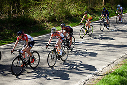 Anna van der Breggen (NED) relaxes at the back on the opening loop at La Flèche Wallonne Femmes 2018, a 118.5 km road race starting and finishing in Huy on April 18, 2018. Photo by Sean Robinson/Velofocus.com