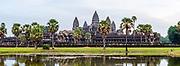 Tourists at Angkor Wat Temple; Angkor Wat Archeological Park, Siem Reap, Cambodia.