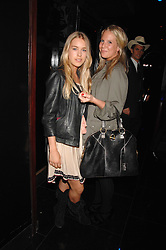 Left to right, MARY CHARTERIS and ALICE DAWSON at the opening of the new club Chloe, 3 Cromwell Road, London on 7th June 2007.<br /><br />NON EXCLUSIVE - WORLD RIGHTS