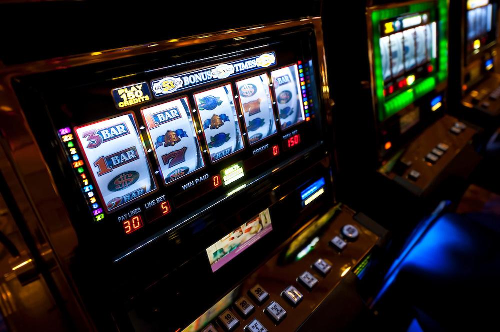 Colorful Slot Machine in a Las Vegas Casino.