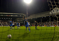 Photo: Daniel Hambury.<br />Fulham v Wycombe Wanderers. Carling Cup. 20/09/2006.<br />Wycombe's Tommy Mooney scores from the spot to make it 0-2.