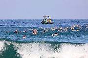 Swimming Competition in the Mediterranean sea as part of the Iron Man challenge