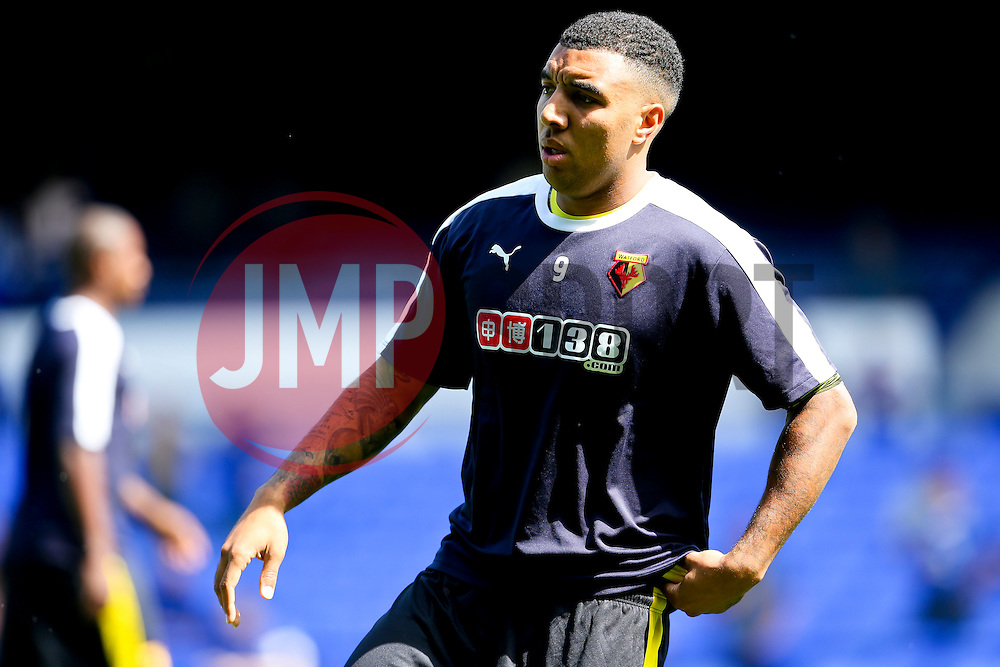 Watford's Troy Deeney warms up - Mandatory byline: Matt McNulty/JMP - 07966386802 - 08/08/2015 - FOOTBALL - Goodison Park -Liverpool,England - Everton v Watford - Barclays Premier League