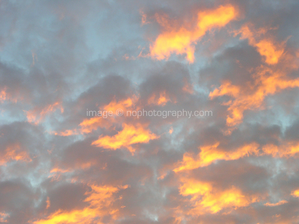 Sunset sky, Dublin, Ireland
