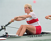 St Catherines, CANADA,  Women's Pair, CAN W2-  .Stroke, Theresa LUKE,  competing at the 1999 World Rowing Championships - Martindale Pond, Ontario. 08.1999..[Mandatory Credit; Peter Spurrier/Intersport-images]  .. 1999 FISA. World Rowing Championships, St Catherines, CANADA