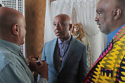 Bridgehampton, New York, NY-July 15: Mediia Mogul Russell Simmons, Co-founder, RUSH Philanthropic and Author/Visual Artist Danny Simmons, Co-Founder, Rush Philanthropic attend The 2017 RUSH Philanthropic's  Art For Life held at Fairview Farms on July 15, 2017 in Bridgehampton, New York. (Photo by Terrence Jennings/terrencejennings.com)