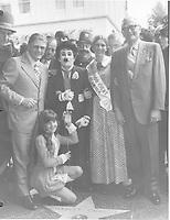 1972 Charles Chaplin's granddaughter, Susan Maree Chaplin, at Charlie Chaplin's Walk of Fame ceremony