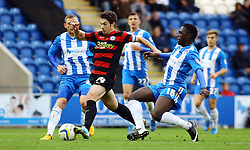 Peterborough United's Lee Tomlin in action with Colchester United's Jeffrey Monakana - Photo mandatory by-line: Joe Dent/JMP - Tel: Mobile: 07966 386802 26/10/2013 - SPORT - FOOTBALL - Colchester Community Stadium - Colchester - Colchester United v Peterborough United - Sky Bet League One
