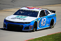March 23, 2019 - Martinsville, VA, U.S. - MARTINSVILLE, VA - MARCH 23: #43: Darrell Wallace Jr., Richard Petty Motorsports, Chevrolet Camaro Transportation Impact during final practice for the STP 500 Monster Energy NASCAR Cup Series race on March 23, 2019 at the Martinsville Speedway in Martinsville, VA.  (Photo by David J. Griffin/Icon Sportswire) (Credit Image: © David J. Griffin/Icon SMI via ZUMA Press)