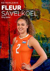 Fleur Savelkoel of Netherlands, Photoshoot selection of Orange women's volleybal team season 2021on may 12, 2021 in Arnhem, Netherlands (Photo by RHF Agency/Ronald Hoogendoorn)