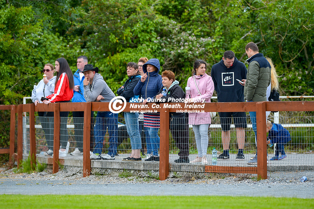 Full Time Score 2 - 2<br /> <br /> Supporters at the Skryne/Tara v Balrath, North East Football League Women's Div South match, at Ross Cross, Tara.<br /> <br /> Photo: GERRY SHANAHAN-WWW.QUIRKE.IE<br /> <br /> 26-06-2021