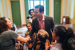 Porto Alegre, RS 14.11.2018: O prefeito, Nelson Marchezan Júnior, recebeu, na tarde desta quarta-feira (14), no Paço Municipal , a visita de um grupo de alunos da Escola Municipal de Ensino Fundamental Deputado Victor Issler. Foto: Jefferson Bernardes/PMPA