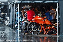 John Shope's Dirty Bird Concepts display at the Easyriders Saloon during the annual Sturgis Black Hills Motorcycle Rally. SD, USA. August 5, 2014.  Photography ©2014 Michael Lichter.