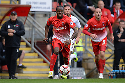 Leyton Orient's Moses Odubajo runs with the ball - Photo mandatory by-line: Mitchell Gunn/JMP - Tel: Mobile: 07966 386802 12/10/2013 - SPORT - FOOTBALL - Brisbane Road - Leyton - Leyton Orient V MK Dons - League One