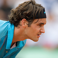 08 June 2007: Swiss player Roger Federer is seen during the French Tennis Open semi final won 7-5, 7-6(5), 7-6(7), by Roger Federer over Nikolay Davydenko on day 13 at Roland Garros, in Paris, France.