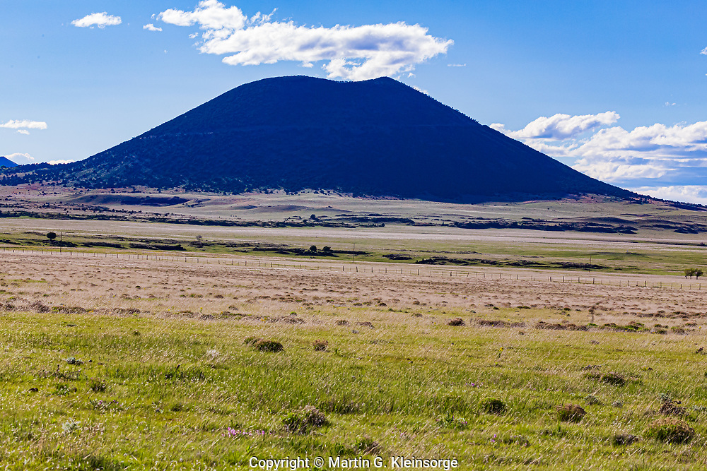 Silhouette of 8,182 ft. Capulin Volcano on the northeastern plains of New Mixico.  Capulin Volcano National Monument.