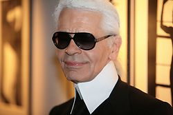 German designer Karl Lagerfeld unveils his new photo exhibition 'One man show' as a part of the Transphotographiques held at the Tri Postal in Lille, France, on June 12, 2008. Photo by Eric Pollet/ABACAPRESS.COM