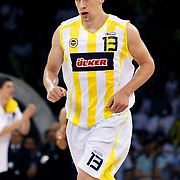 Fenerbahce Ulker's Gasper VIDMAR during their Turkish Basketball league Play Off Final Sixth Leg match Fenerbahce Ulker between Efes Pilsen at the Abdi Ipekci Arena in Istanbul Turkey on Wednesday 02 June 2010. Photo by Aykut AKICI/TURKPIX