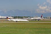 Eurowings, Canadair CRJ-900 and Delta Boeing 767-432ER
