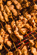 Chicken Kebabs cooking for desert meal, United Arab Emirates