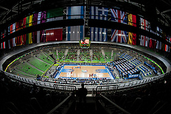 Flags in Arena Stozice during basketball match between National teams of Ukraina and Lithuania in 2nd Round at Day 12 of Eurobasket 2013 on September 14, 2013 in SRC Stozice, Ljubljana, Slovenia. (Photo By Urban Urbanc / Sportida)