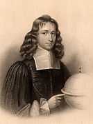 James Gregory (1638-75) Scottish mathematician. In 1663 he published 'Optica Promota' describing his reflecting telescope. Corresponded with Isaac Newton.  Engraving from 'A Biographical Dictionary of Eminent Scotsmen' by Thomas Thomson (1870).