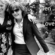 Jen (left) and Jane show their joy after their first scan early in Jen's pregnancy. June 2008. Photo by Tim Clayton..