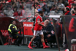 February 3, 2018 - Lisbon, Portugal - Benfica's Argentine midfielder Eduardo Salvio leaves the field after gets injured during the Portuguese League football match SL Benfica vs Rio Ave FC at the Luz stadium in Lisbon on February 3, 2018. (Credit Image: © Pedro Fiuza/NurPhoto via ZUMA Press)