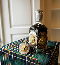 Pictured: <br /><br />A rare, independently bottled Bowmore Dynasty Decanter-31 year old, estimated at £6,000-8,000, leads the next Bonhams Whisky sale <br />  <br /> The whisky was bottled by the Glasgow company Hart Brothers Ltd in a crystal decanter made by the prestigious Portuguese glassware manufacturer Atlantis Crystal. The hall marked, sterling silver casing incorporates gilt mounted medallions of the monarchs of The Royal House of Stuart. The decanter is number 121 of 500.<br />Ger Harley | EEm 14 September 2021