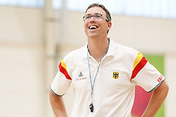 22.07.2015, Telekom Dome, Bonn, GER, FIBA, Basketball EM, Deutschland, Training, im Bild Bundestrainer Chris Fleming // during a Trainingssession of Team Germany in front of the Euro Basket 2015 Championships at the Telekom Dome in Bonn, Germany on 2015/07/22. EXPA Pictures © 2015, PhotoCredit: EXPA/ Eibner-Pressefoto/ Schueler<br /> <br /> *****ATTENTION - OUT of GER*****