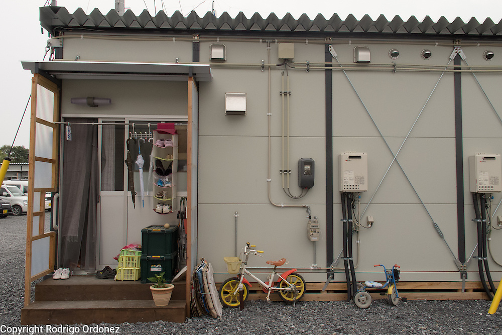 Temporary housing in Ishinomaki, Japan, for people displaced by the 2011 earthquake and tsunami.