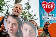Demonstratie tegen uitzetting Lili en Howick