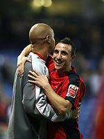 Photo: Mark Stephenson/Sportsbeat Images.<br /> West Bromwich Albion v Coventry City. Coca Cola Championship. 04/12/2007.Coventry's Michael Mifsud (R) celebrates there win
