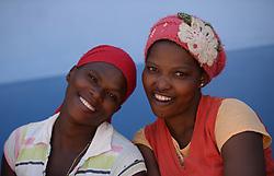 Nov. 21, 2014 - Mthatha, Eastern Cape, South Africa - A portrait of the two young women from Mandela's homeland of Mthatha. Mthatha, Eastern Cape, South Africa. (Picture by: Artur Widak/NurPhoto) (Credit Image: © Artur Widak/NurPhoto/ZUMA Wire)
