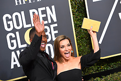 January 7, 2018 - Los Angeles, California, U.S. - SCOTT EVANS AND KT HOOVER during red carpet arrivals for the 75th Annual Golden Globe Awards, at The Beverly Hilton Hotel. (Credit Image: © Kevin Sullivan via ZUMA Wire)