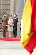 062514 Spanish Royals receive Armen Forces and Guardia Civil Members