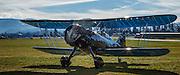 Waco YPF-6 taxiinb back to the hangar after a flight at WAAAM.