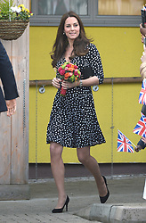 Catherine, Duchess of Cambridge at Brookhill Children's and Community Centre, Woolwich, London.