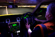 Airside Operations Safety Unit (AOSU) runway centreline night drive inspection at Heathrow Airport