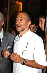 Chef MICHEL ROUX, son of Albert Roux at the presentation of a Chevalier dans l'ordre de la LŽgion d'Honneur to chef Albert Roux held at Le Gavroche, 43 Upper Brook Street, London on 9th September 2005.<br /><br />NON EXCLUSIVE - WORLD RIGHTS